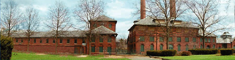 The Hackensack Water Works as seen from Elm St in Oradell